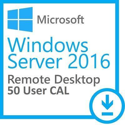 Microsoft windows server 2016 datacenter 64 bit + 50 rds user cal